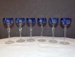 Série 6 verres en cristal Saint Louis.