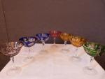 Série de 7 coupes champagne en cristal St Louis